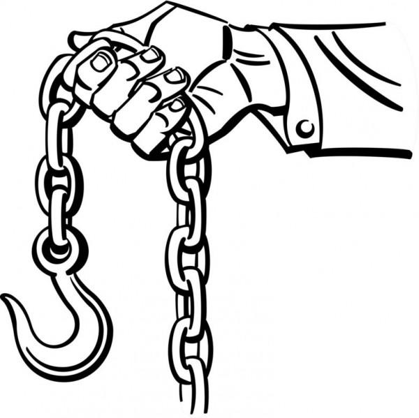 زنجیر قلاب دار